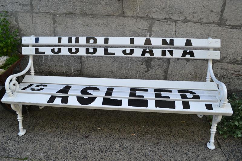 Ljubljana bench art