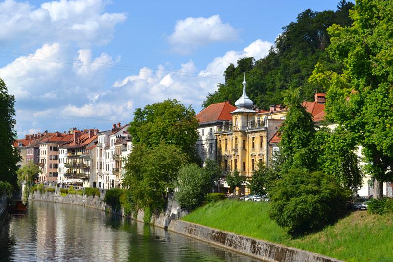 Ljubljana riverside