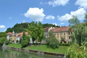 Ljubljana-castle-river